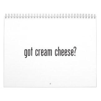 queso cremoso conseguido calendario de pared