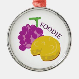 Queso de la uva de Foodie Adorno Redondo Plateado