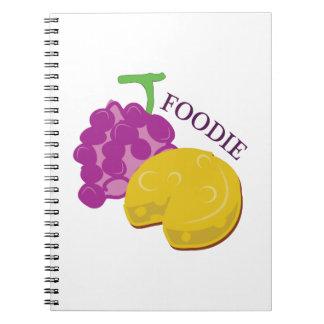 Queso de la uva de Foodie Libreta Espiral