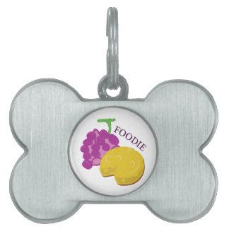 Queso de la uva de Foodie Placas De Nombre De Mascota