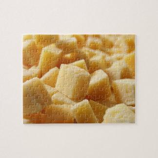 Queso de Reggiano del parmesano en cubos Puzzle