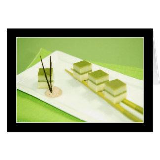 Queso de soja del té verde tarjeta de felicitación