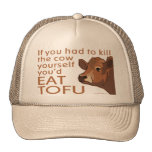 Queso de soja vegetariano de la carne del vegano gorro