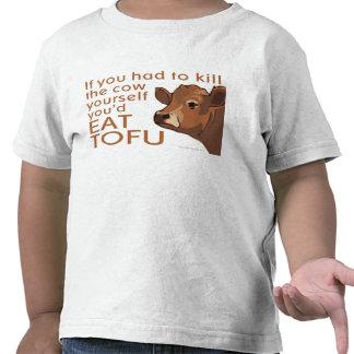 Queso de soja vegetariano de la carne del vegano camiseta