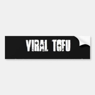 Queso de soja viral etiqueta de parachoque