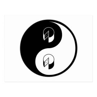 Queso de Yin Yang Postal