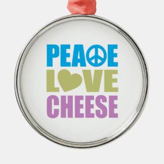 Queso del amor de la paz adorno