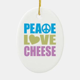 Queso del amor de la paz adorno de navidad