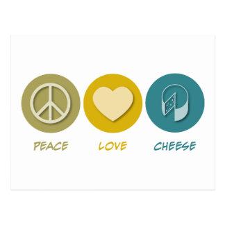 Queso del amor de la paz postal