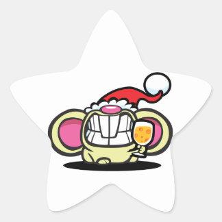 ¡QUESO del navidad! Calcomanía Forma De Estrella