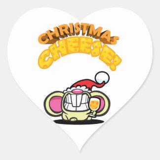 ¡QUESO del navidad! Pegatina Corazón