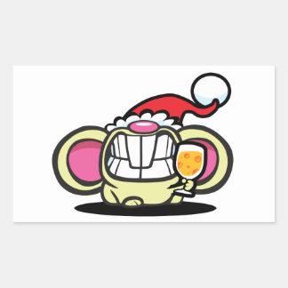 ¡QUESO del navidad! Rectangular Pegatinas