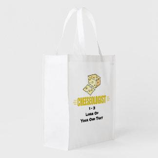 Queso divertido bolsas reutilizables