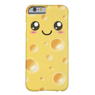 Queso feliz lindo de Kawaii Funda De iPhone 6 Barely There