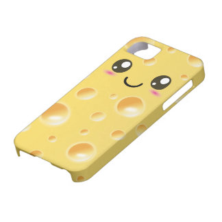 Queso feliz lindo de Kawaii iPhone 5 Case-Mate Cobertura