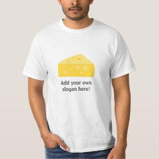 Queso grande: Lema adaptable Camisas