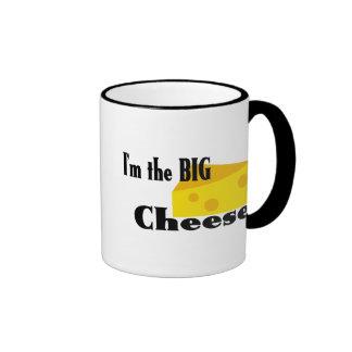 Queso grande taza a dos colores