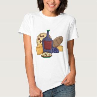 Queso italiano del vino del pan de las pastas de camisas