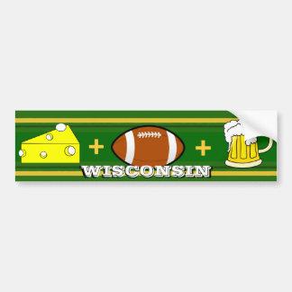 Queso más fútbol más la cerveza pegatina para auto
