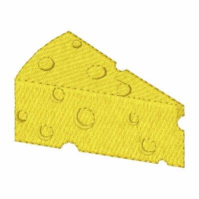 Queso suizo sudadera bordada con capucha