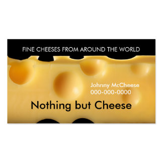 queso plantilla de tarjeta de visita