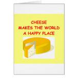 queso tarjeta de felicitación