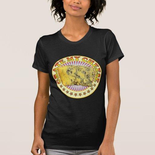 Queso v2 de la rejilla camisetas