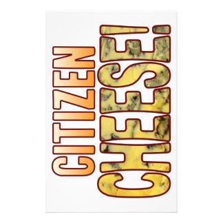Queso verde del ciudadano papeleria personalizada