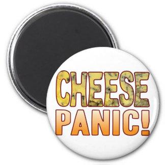 Queso verde del pánico imán redondo 5 cm