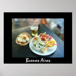 Queso y cerveza en Buenos Aires Póster