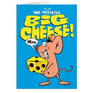 Queso y ratón grandes tarjeta de felicitación