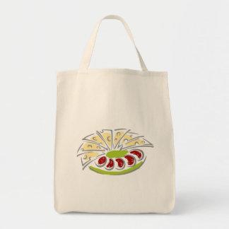 Queso y salchichones bolsa tela para la compra
