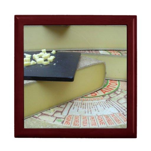 Queso y tablero del queso joyero cuadrado grande