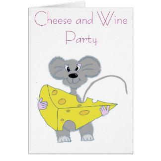 Queso y WineParty Tarjeta De Felicitación