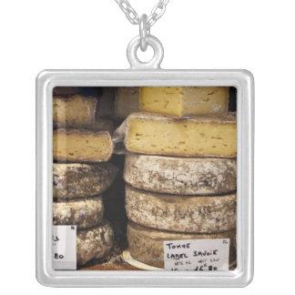 quesos franceses regionales del artesano colgante cuadrado
