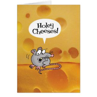 ¡Quesos Holey! Tarjeta de cumpleaños divertida