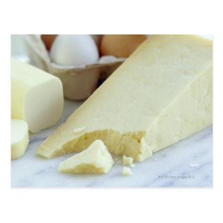 Quesos y huevos. Los huevos son ricos en proteína Tarjeta Postal