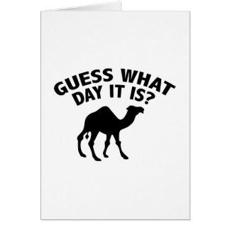 ¿Quess qué día es? Tarjeta De Felicitación