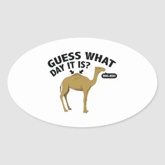 Quess What Day It Is? Oval Sticker