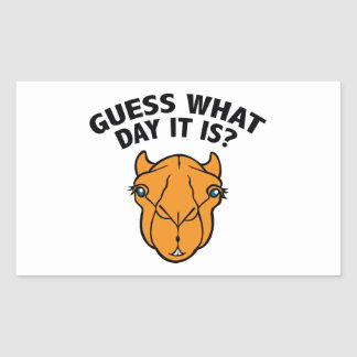 Quess What Day It Is? Rectangular Sticker