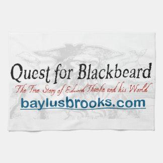 Quest for Blackbeard kitchen towel