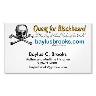Quest for Blackbeard - Magnetic Bus. cards (white)