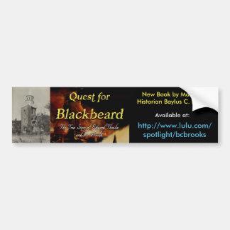 Quest for Blackbeard promotional bumper sticker
