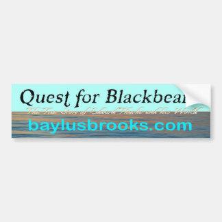 Quest for Blackbeard sea blue bumper sticker