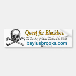 Quest for Blackbeard skull Bumper Sticker