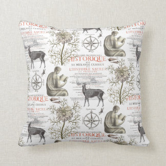 Quest for Knowledge - History and Science Throw Pillow