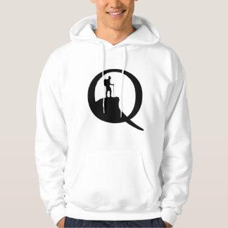 Quest Q in black on Hoodie