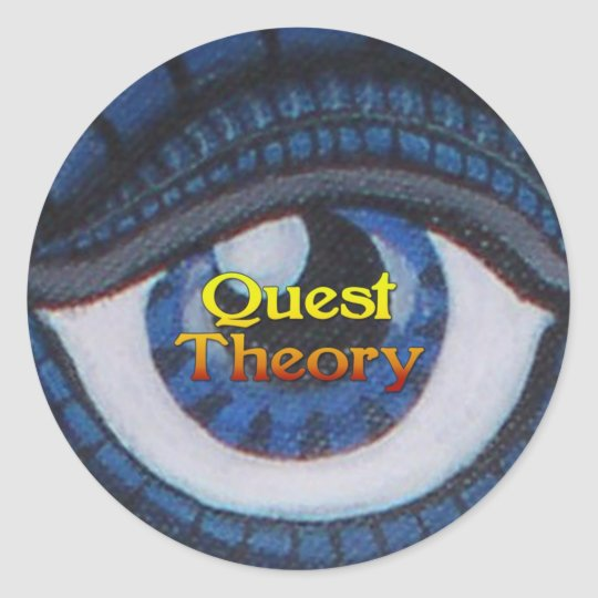 Quest Theory Sticker - Round - Eye of Truth