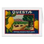 Questa Lemon LabelCorona, CA Greeting Cards