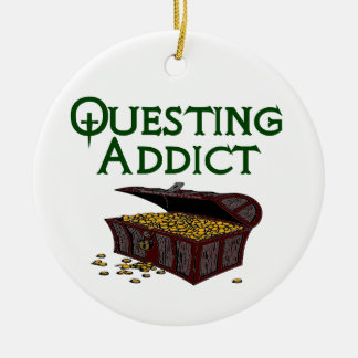Questing Addict Ceramic Ornament